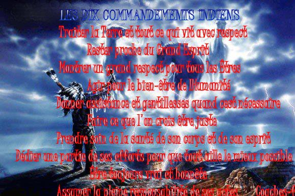 Les dix commandements amérindien